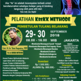 TRAINING #KREKKMETHOD 29-30 SEPTEMBER 2018 JAKARTA