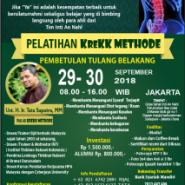 TRAINING #KREKKMETHOD 29-30 SEPTEMBER 2018 JAKARTA
