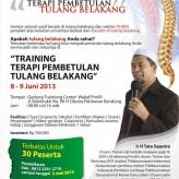 Pelatihan Pembetulan Tulang Belakang (PTB) Bandung